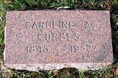 FORBES, CAROLINE A. - Sioux County, Iowa | CAROLINE A. FORBES