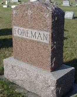 FOREMAN, HEADSTONE - Sioux County, Iowa | HEADSTONE FOREMAN