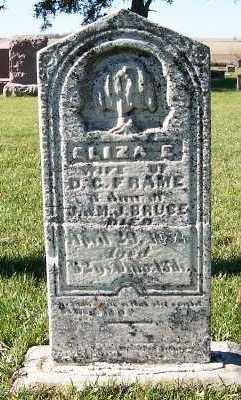 FRAME, ELIZA E. (MRS. D. C.) - Sioux County, Iowa | ELIZA E. (MRS. D. C.) FRAME
