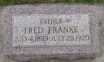 FRANKE, FRED D.1920 - Sioux County, Iowa | FRED D.1920 FRANKE