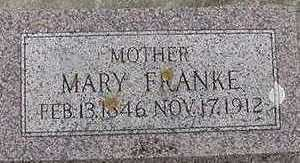 FRANKE, MARY D.1912 - Sioux County, Iowa | MARY D.1912 FRANKE