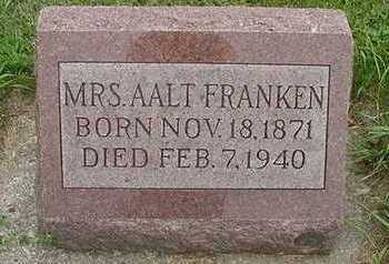 FRANKEN, AALT MRS. - Sioux County, Iowa | AALT MRS. FRANKEN
