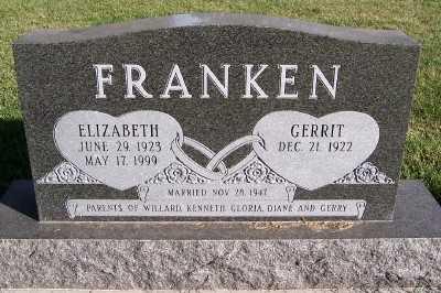 FRANKEN, ELIZABETH - Sioux County, Iowa | ELIZABETH FRANKEN