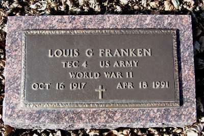 FRANKEN, LOUIS G. - Sioux County, Iowa | LOUIS G. FRANKEN