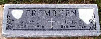 FREMBGEN, MARY C. - Sioux County, Iowa | MARY C. FREMBGEN