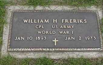 FRERIKS, WILLIAM H. (MILITARY) - Sioux County, Iowa | WILLIAM H. (MILITARY) FRERIKS