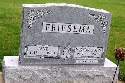 FRIESEMA, JANE - Sioux County, Iowa | JANE FRIESEMA