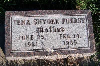 SNYDER FUERST, TENA - Sioux County, Iowa | TENA SNYDER FUERST