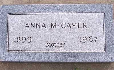 GAYER, ANNA M. - Sioux County, Iowa | ANNA M. GAYER