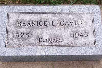 GAYER, BERNICE L. - Sioux County, Iowa | BERNICE L. GAYER