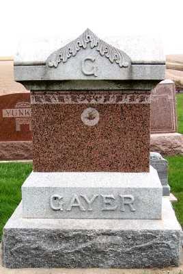 GAYER, HEADSTONE - Sioux County, Iowa | HEADSTONE GAYER