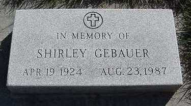 GEBAUER, SHIRLEY - Sioux County, Iowa   SHIRLEY GEBAUER