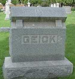 GEICK, HEADSTONE - Sioux County, Iowa | HEADSTONE GEICK