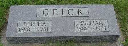 GEICK, WILLIAM - Sioux County, Iowa | WILLIAM GEICK