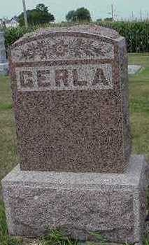 GERLA, HEADSTONE - Sioux County, Iowa | HEADSTONE GERLA