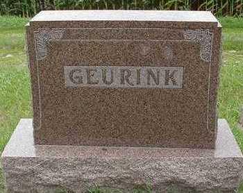 GEURINK, HEADSTONE - Sioux County, Iowa | HEADSTONE GEURINK