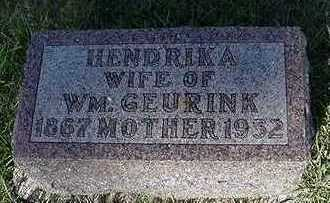 GEURINK, HENDRIKA (MRS. WM.) - Sioux County, Iowa | HENDRIKA (MRS. WM.) GEURINK