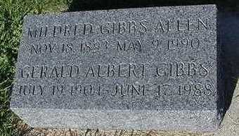 ALLEN GIBBS, MILDRED - Sioux County, Iowa | MILDRED ALLEN GIBBS