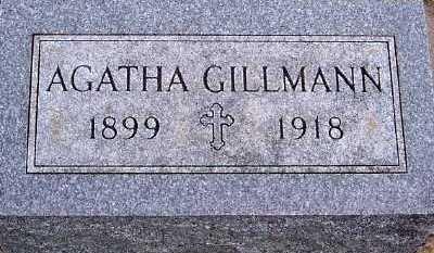 GILLMANN, AGATHA - Sioux County, Iowa | AGATHA GILLMANN