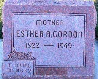 GORDON, ESTHER A. - Sioux County, Iowa | ESTHER A. GORDON