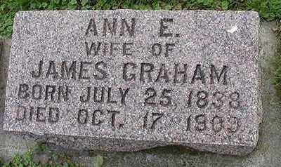 GRAHAM, ANN E.  (MRS. JAMES) - Sioux County, Iowa | ANN E.  (MRS. JAMES) GRAHAM