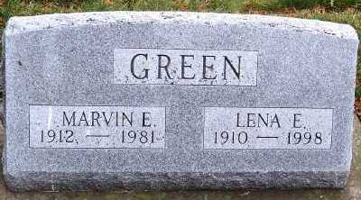 GREEN, LENA E. - Sioux County, Iowa | LENA E. GREEN