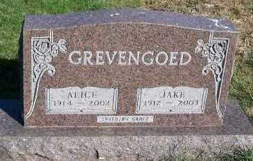 GREVENGOED, ALICE - Sioux County, Iowa | ALICE GREVENGOED