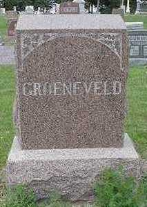 GROENEVELD, HEADSTONE - Sioux County, Iowa | HEADSTONE GROENEVELD