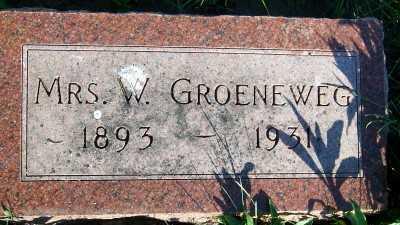 GROENEWEG, MRS. W. - Sioux County, Iowa | MRS. W. GROENEWEG