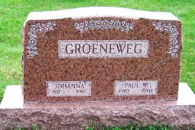GROENEWEG, JOHANNA - Sioux County, Iowa | JOHANNA GROENEWEG