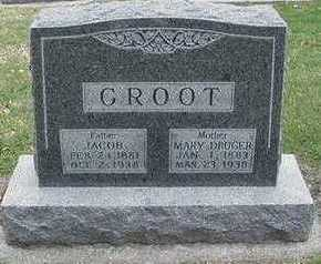 GROOT, MARY (MRS. JACOB) - Sioux County, Iowa | MARY (MRS. JACOB) GROOT