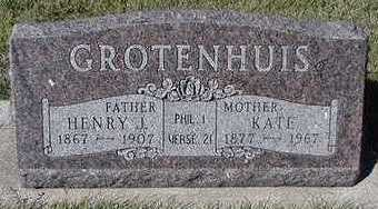 GROTENHUIS, KATE (MRS. HENRY J.) - Sioux County, Iowa | KATE (MRS. HENRY J.) GROTENHUIS
