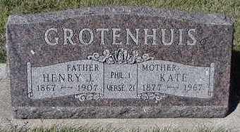 GROTENHUIS, HENRY J. - Sioux County, Iowa | HENRY J. GROTENHUIS