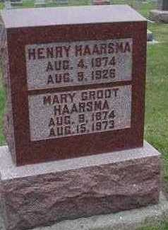HAARSMA, MARY (MRS. HENRY) - Sioux County, Iowa | MARY (MRS. HENRY) HAARSMA
