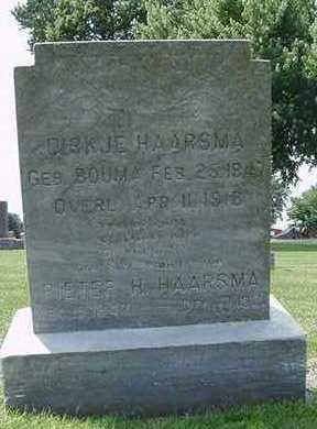 HAARSMA, DIRKJE - Sioux County, Iowa | DIRKJE HAARSMA
