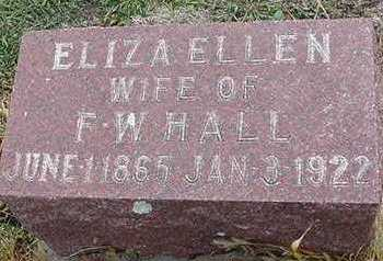 HALL, ELIZA ELLEN (MRS. F. W.) - Sioux County, Iowa | ELIZA ELLEN (MRS. F. W.) HALL