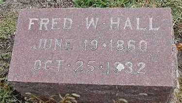 HALL, FRED W. - Sioux County, Iowa | FRED W. HALL
