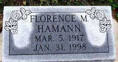 HAMANN, FLORENCE M. - Sioux County, Iowa | FLORENCE M. HAMANN