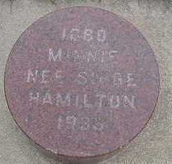 SIEGE HAMILTON, MINNIE - Sioux County, Iowa | MINNIE SIEGE HAMILTON