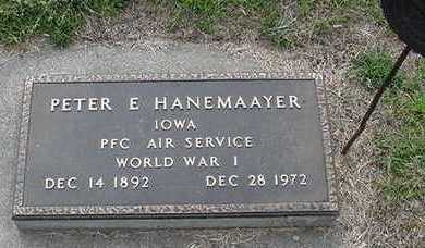 HANEMAAYER, PETER E. - Sioux County, Iowa | PETER E. HANEMAAYER