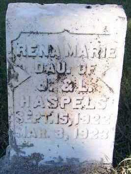HASPELS, RENA MARIE (DAU OF J.& L.) - Sioux County, Iowa | RENA MARIE (DAU OF J.& L.) HASPELS