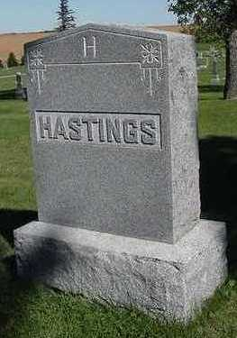 HASTINGS, HEADSTONE - Sioux County, Iowa | HEADSTONE HASTINGS