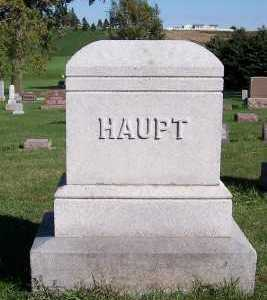 HAUPT, HEADSTONE - Sioux County, Iowa | HEADSTONE HAUPT