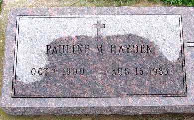 HAYDEN, PAULINE M. - Sioux County, Iowa | PAULINE M. HAYDEN
