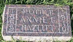 HAZLITT, ANNIE G. - Sioux County, Iowa | ANNIE G. HAZLITT