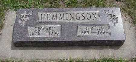 HEMMINGSON, BERTHA - Sioux County, Iowa | BERTHA HEMMINGSON