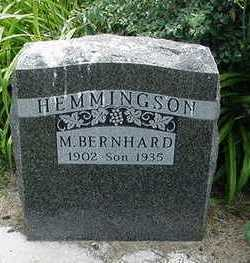 HEMMINGSON, M. BERNHARD - Sioux County, Iowa | M. BERNHARD HEMMINGSON