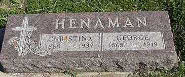 HENAMAN, CHRISTINA (MRS. GEORGE) - Sioux County, Iowa | CHRISTINA (MRS. GEORGE) HENAMAN