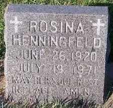 HENNINGFELD, ROSINA - Sioux County, Iowa | ROSINA HENNINGFELD