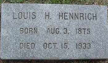 HENNRICH, LOUIS H. - Sioux County, Iowa | LOUIS H. HENNRICH